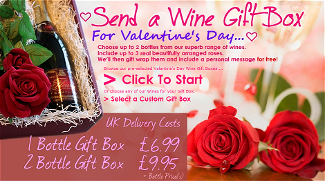 Send Valentine's Day Wine & Roses Giftboxes!